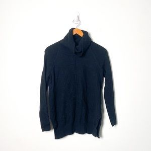 Cynthia Rowley Black 100% Merino Wool Turtleneck Sweater
